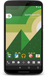 Phone homescreen